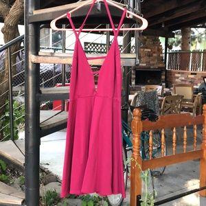 Berry Pink Strappy Skater Dress Size Medium